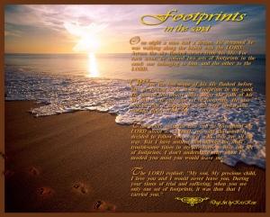footprints in the sand poem 4