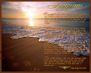 footprints in the sand poem 4