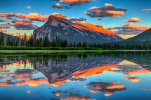 Mountain-Sunset-Reflection